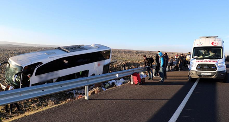 Ankara'da otobüs kazası: 1 ölü, 16 yaralı
