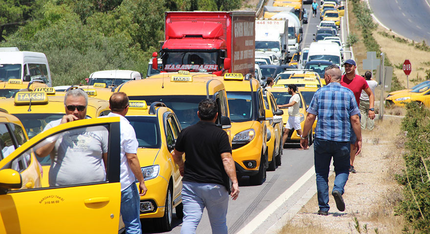 UBER Bodrum'u karıştırdı! Taksiciler isyan etti
