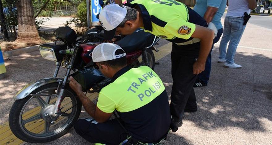 Çalıntı motosikletlere eş zamanlı operasyon