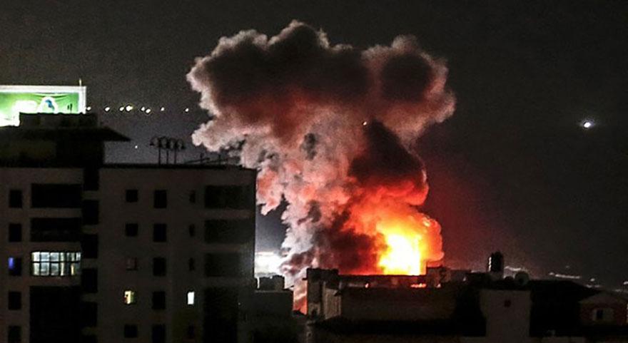İsrail Gazze'ye yine saldırdı!