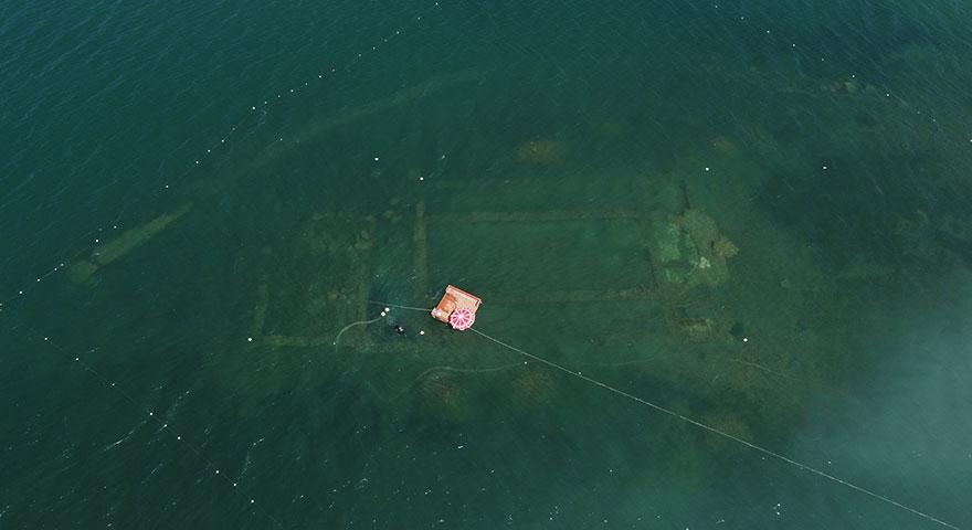 Gölün dibinde yatan 100 yılın keşfi