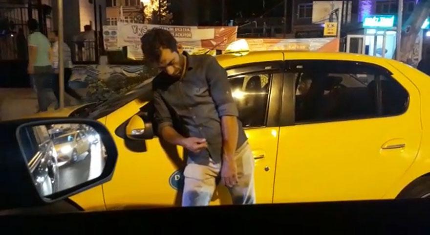 Uyuşturucu madde kullanan taksici aracının başında sızdı