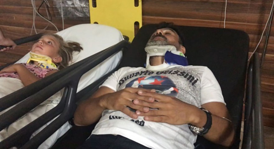 Ünlü oyuncu Sefa Zengin ve ailesi ölümden döndü