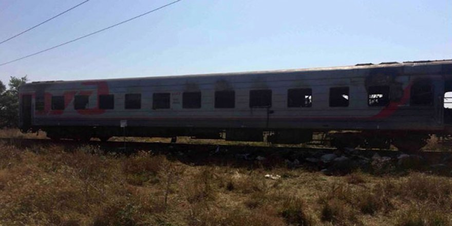 Rusya'da yolcu treni yandı