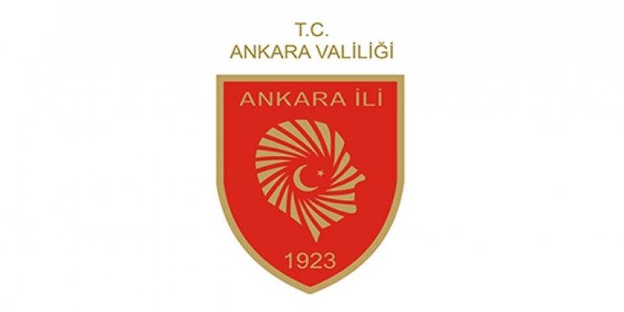 Ankara Valiliği'nden flaş açıklama