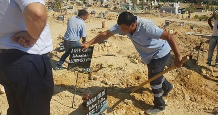 Genç kadının mezarı açıldı