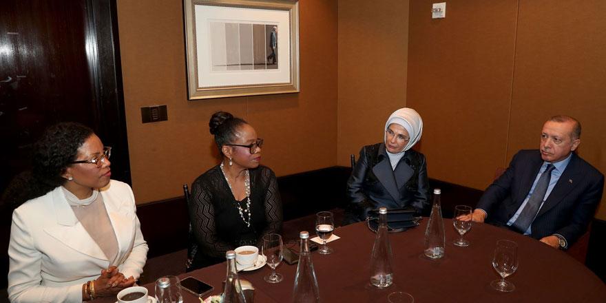 Cumhurbaşkanı Erdoğan, Malcolm X'in kızları ile birlikte