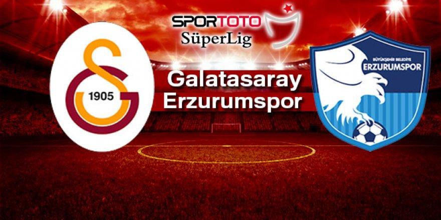 Galatasaray Erzurumspor maçı ne zaman? Saat kaçta?