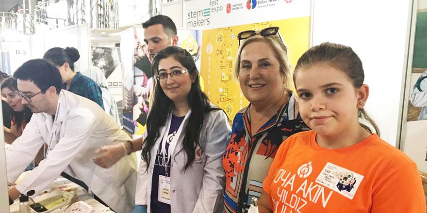 Oya Akın Yıldız okulları Stem&Makers festivalindeydi
