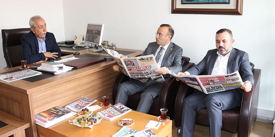 Turan ve Ercan'dan Anadolu Gazetesi'ne nezaket ziyareti