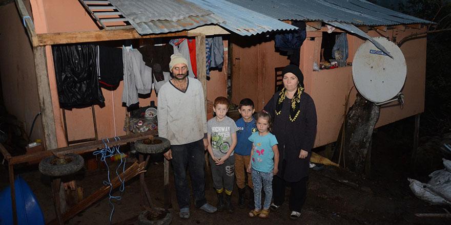 Ordu'da 4  çocuklu Can ailesi yardım bekliyor