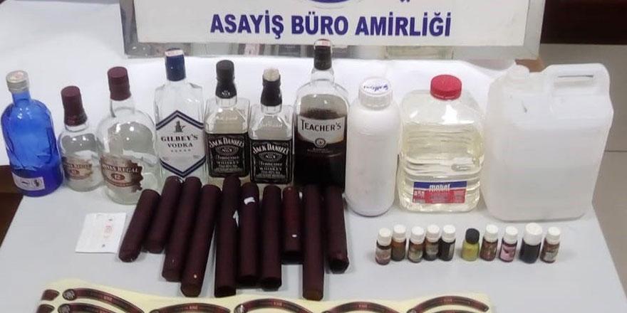 Ankara'da sahte içki yapımına suçüstü