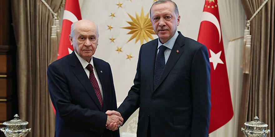 Cumhurbaşkanı Erdoğan ile Bahçeli arasında beklenen görüşme gerçekleşti