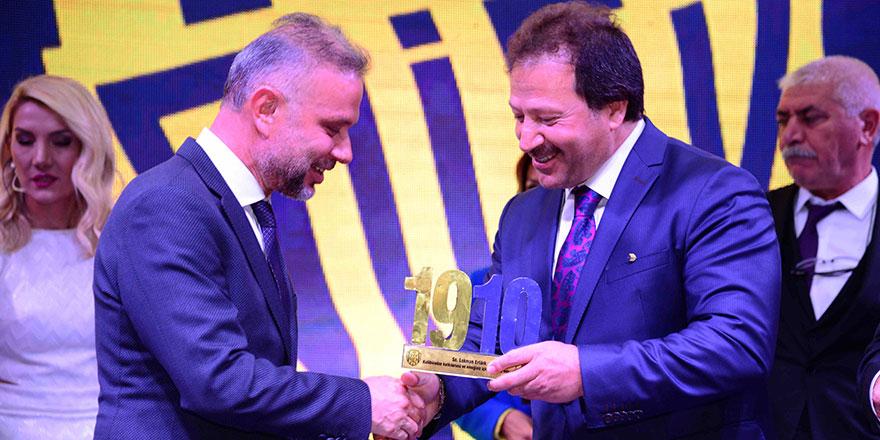 """Ankaragücü'nün """"Gecekondu""""sundan Ertürk'e ödül"""
