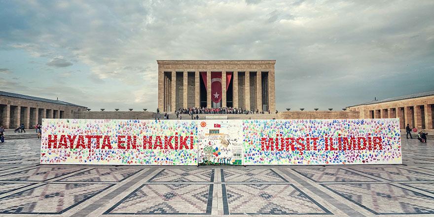 Küçük ressamlar 29 Ekim'de Anıtkabir'de