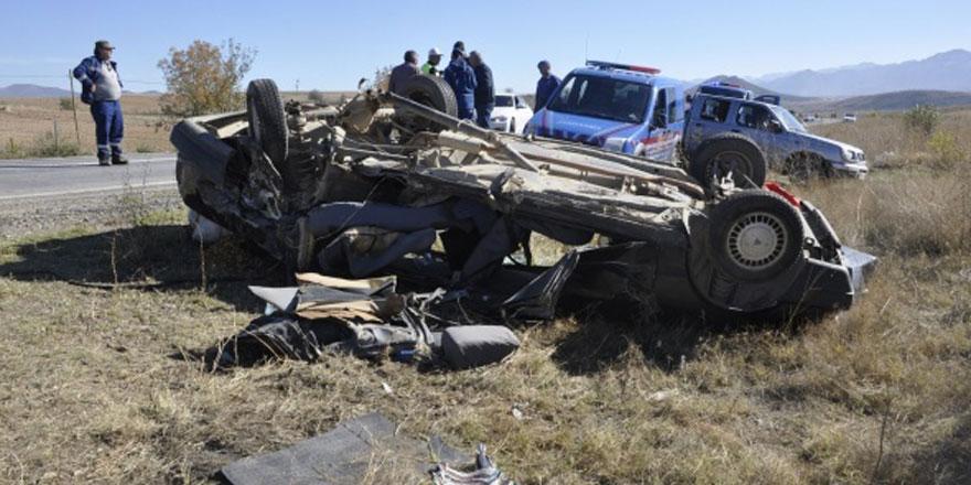 Konya Seydişehir ilçesi yolunda feci trafik kazası!