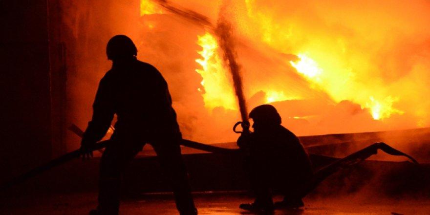 Ayakkabı fabrikasında yangın çıktı