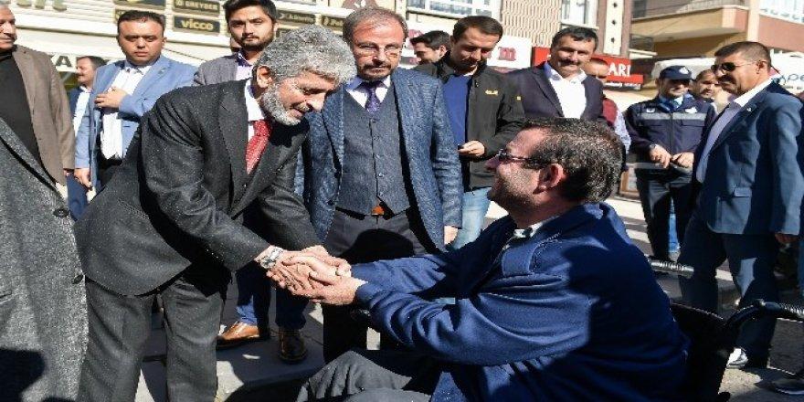Mustafa Tuna Keçiören'de bir dizi ziyaret gerçekleştirdi