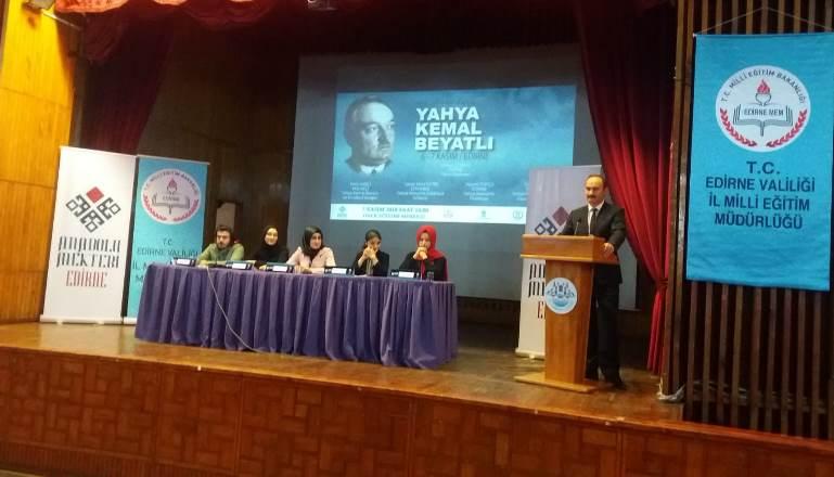 Anadolu Mektebi Edirne Paneli büyük ilgi gördü