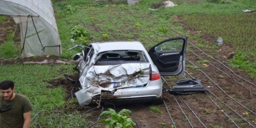 Kahraman Tazeoğlu kaza geçirdi