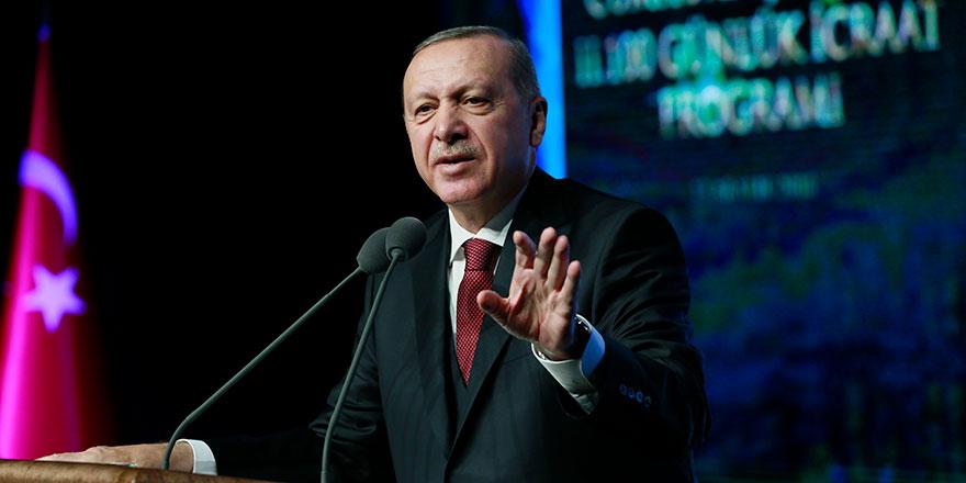 Cumhurbaşkanı Erdoğan yeni projelerini açıkladı