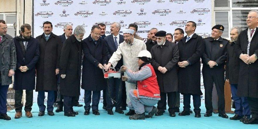Mustafa Tuna cami temel atma törenine katıldı