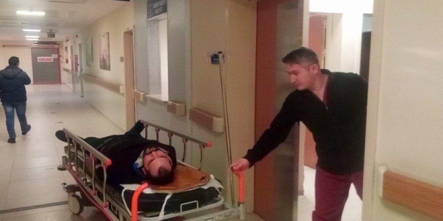 Kız arkadaşına kızdı, terastan kendini attı