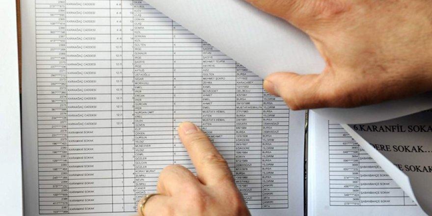Seçmen listeleri askıda