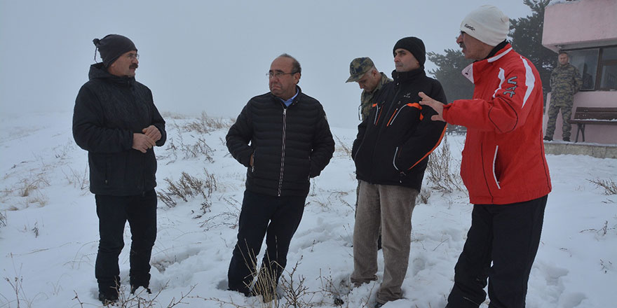 Ali Oto Elmadağ Kayak Merkezi'ni inceledi