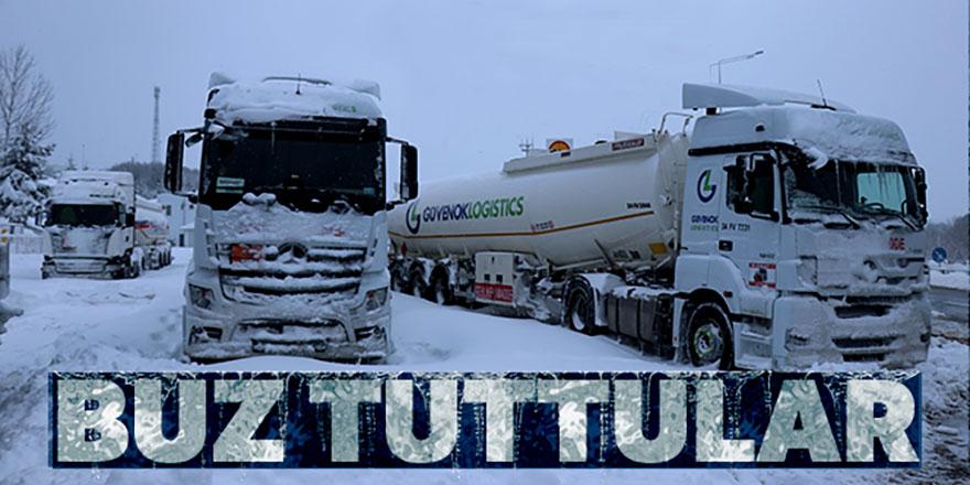 Buz tuttular! Bolu'da ağır araç geçişine izin verilmiyor