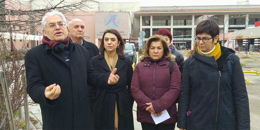 Atatürk Hastanesi'nin kapatılması protesto edildi