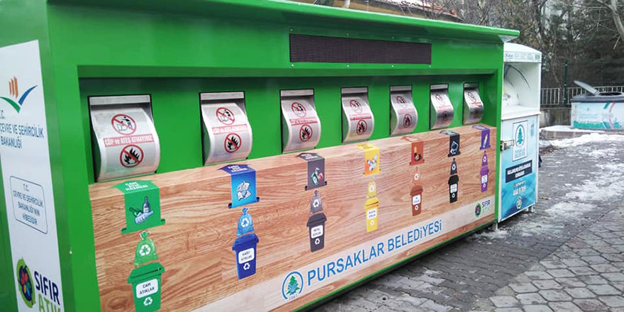 Pursaklara'a mobil atık merkezi