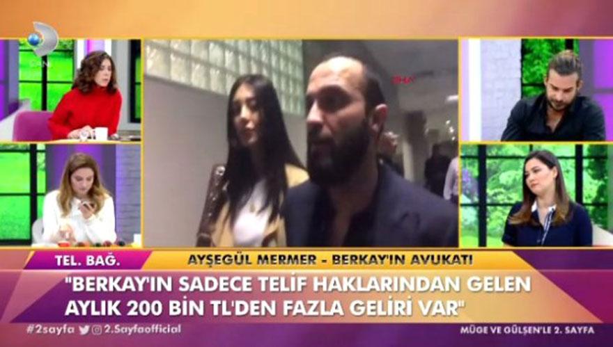 Şarkıcı Berkay'ın aylık kazancını avukatı açıkladı