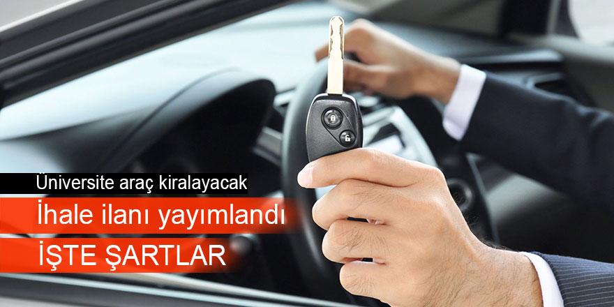 Araç kiralama hizmeti alınacaktır