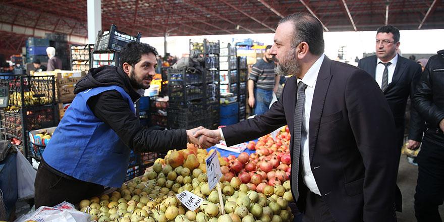 Murat Ercan esnaf ziyaretinde