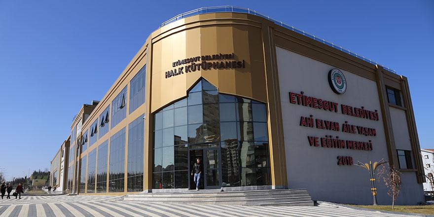 Etimesgut Halk Kütüphanesi açıldı