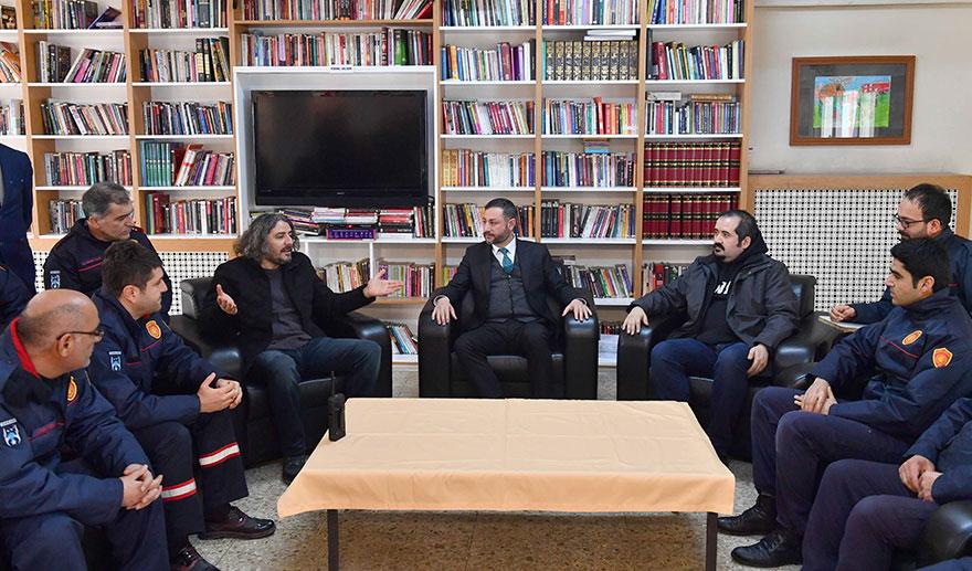 Ankara İtfaiyesi'ne anlamlı ziyaret