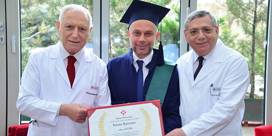 Lokman Ertürk'ün mezuniyet heyecanı