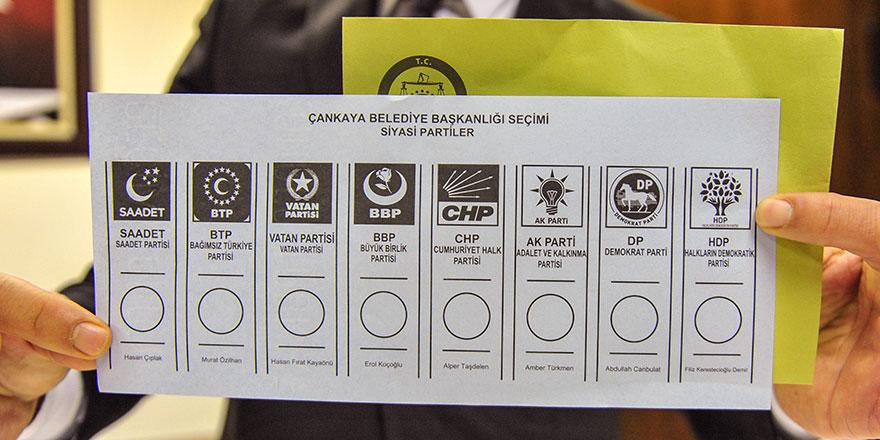 31 Mart yerel seçimlerinde kullanılacak oy pusulaları