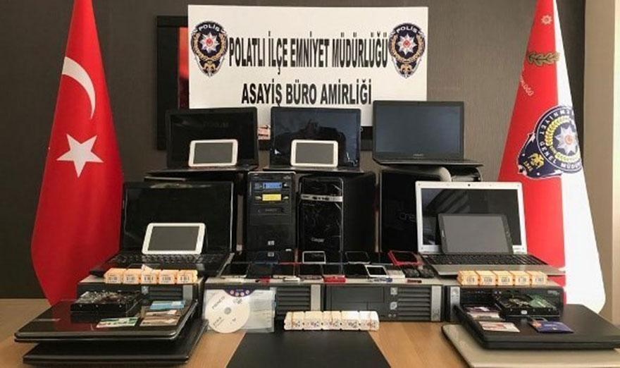 Polatlı'da kaçak bahis örgütü çökertildi: 45 gözaltı