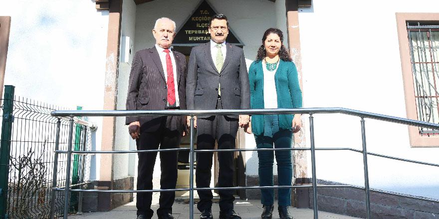 Mustafa Ak'tan muhtarlara ziyaret