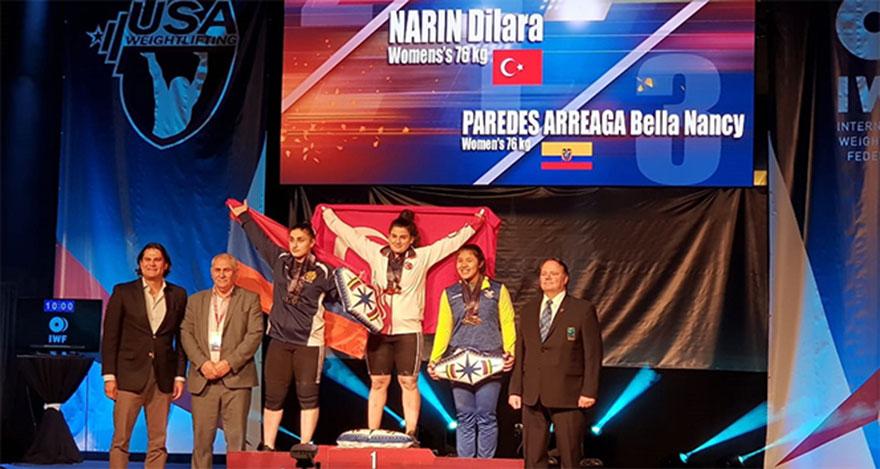 Milli halterci dünya rekoruyla 3 altın madalya kazandı