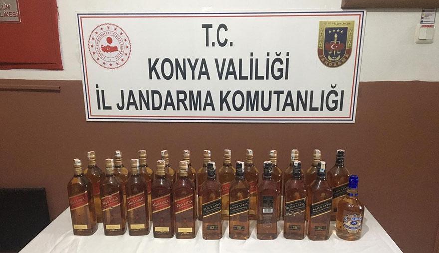 Jandarmadan kaçak içki operasyonu: 2 gözaltı
