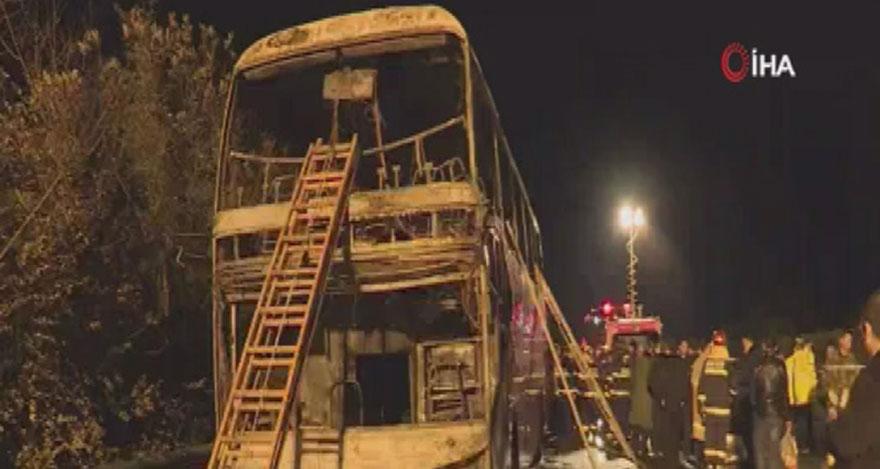 Feci otobüs yangınında 26 kişi öldü