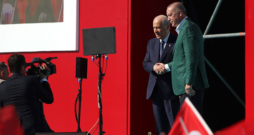 Cumhur ittifakı Ankara Mitinginde Tek Yürek