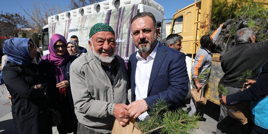 Başkan Ercan fidan dağıttı