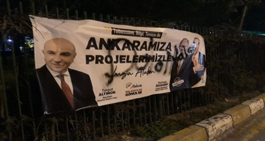 AK Parti afişlerine saldırı
