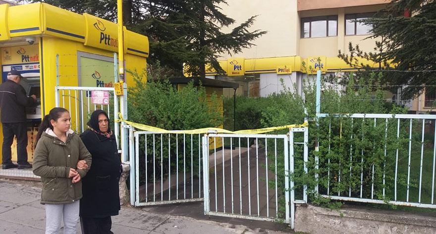 Ankara'da gündüz vakti PTT şubesi  soyuldu