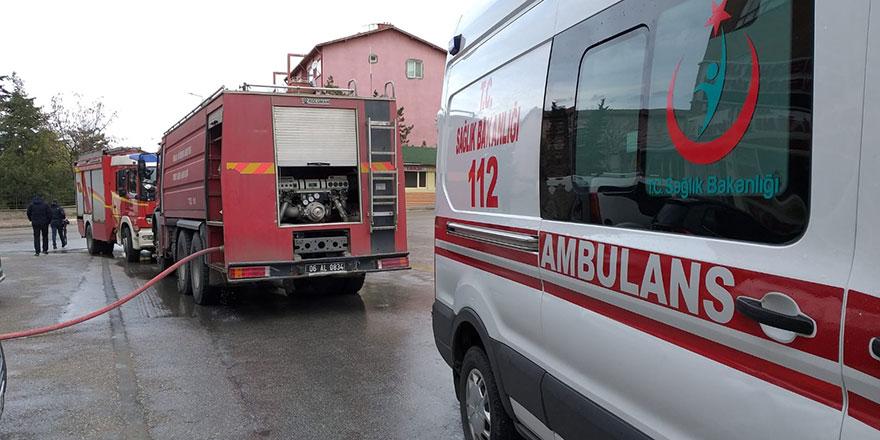 Başkent'te mobilya üretim atölyesinde yangın