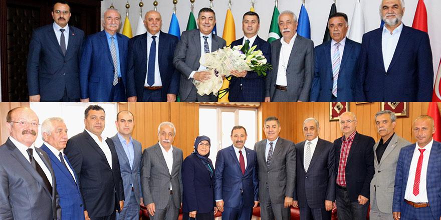 Kırşehirliler'den MHP'li başkanlara ziyaret